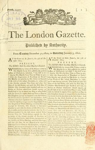 The London gazette by Great Britain. Department of Economic Affairs.